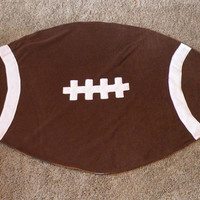 CUSTOM Football Baby Blanket Football Shaped Blanket
