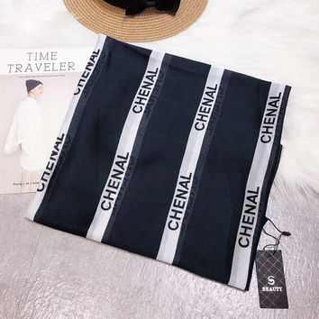 New fashion more letter print women personality scarf