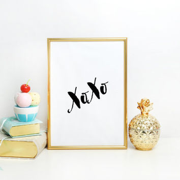 Girls Bedroom Decor,Nursery Girls,Xoxo Gold Foil,Xoxo Print,Love Sign,Love Quote,GOSSIP GIRL,XOXO,Gift For Her,Girly Print,Girls Room Decor