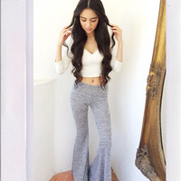 Harmony Bell Bottoms- Grey