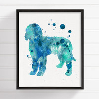 Goldendoodle Watercolor, Goldendoodle Art, Goldendoodle Print, Goldendoodle Poster, Dog Wall Art, Dog Lover Gift, Golden Doodle