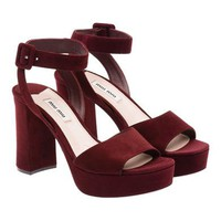 Miu Miu - Sandals - Burgundy - United States - 5XP675_XTP_F0399_F_095