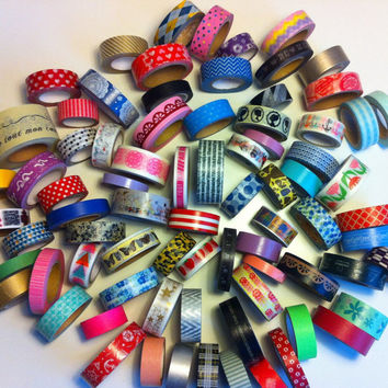 Washi Sample Mystery Grab Bag - 5 x 1 meter / 5 x 39 inches Free Shipping With Other Purchase