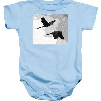 Parrots Drawing - Baby Onesuit