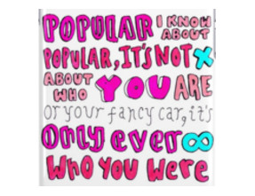 popular song lyric drawing