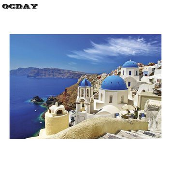 Puzzle For Adults 1000 pieces Jigsaw Puzzle Partition Version Aegean Sea Pattern Educational Toy Assembling Decoration Xmas Gift