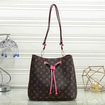 LV Fashion Women Leather Shoulder Bag Satchel Handbag