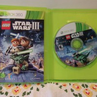 Lego Xbox 360 Star Wars III 3 The Clone Wars Game Complete Used Very Good