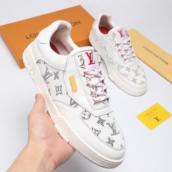 Louis Vuitton LV Men Fashion Sneakers Sport Shoes White