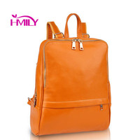 New arrival women backpack genuine leather women bags designer casual real leather laptop backpack solid female trave bag