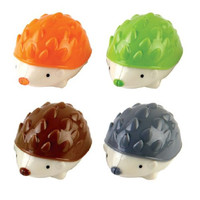 Deli 4-pack Mini Pencil Sharpener (Hedgehog) - Double Sharpener Holds