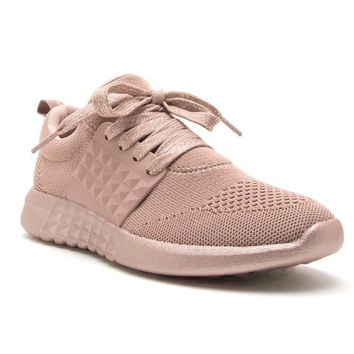 On The Run Athletic Tennis Shoes In Mauve Pink