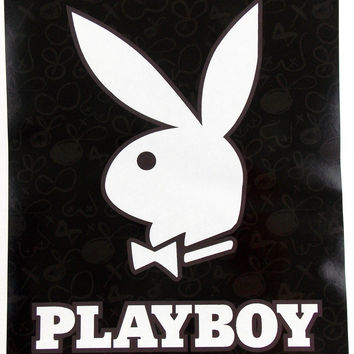 "Playboy Blanket Queen Luxury Plush Black White 79""x 94"" Medium Weight Throw"