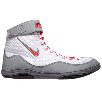 Nike Inflict 3 (White / Uni Red / Grey) - Shoes and Gear Blue Chip Wrestling