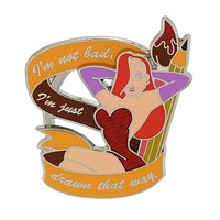 Disney Parks Jessica Rabbit I'm Drawn That Way Pin New with Card