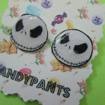 Jack Skellington Nightmare Before Christmas Post Earrings
