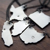 Hello, Ohio - Personalized CHOOSE YOUR OWN STATE Pendant Necklace