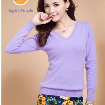 Women Spring Knitted Thin Pullover