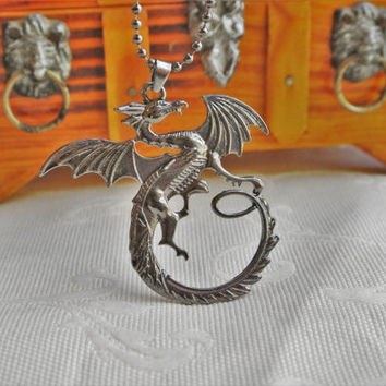Lord of the Rings Desolation of Smaug,One Ring to Rule Them All,Dragon pendent,The Hobbit,Dragon pendent,Elven necklace,Fantasy,LOTR