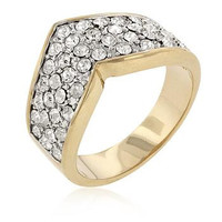 Chevron Pave Crystal Ring, size : 05