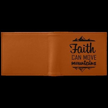 "Christian Gifts - ""Faith Can Move Mountains"" Wallet"