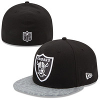 Oakland Raiders New Era 2014 NFL Draft 59FIFTY Reflective Fitted Hat - Black