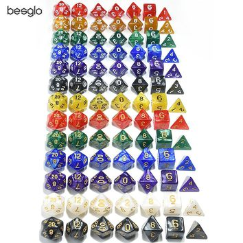 Polyhedral 7-Die Dice Set for Dungeons and Dragons RPG Dice Game (d4, d6, d8, d10, d%, d12, d20)