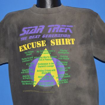 90s Star Trek Excuses Shirt t-shirt Large