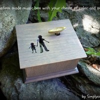 Father's day, For Dad, music box, music boxes, custom music box, father of the groom gift, love dad, custom made music box, for daddy,