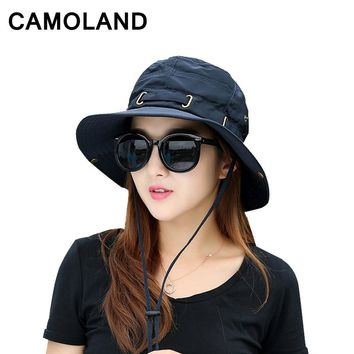Women Summer Bucket Hat Breathable Quick drying Beach Hats Man Wide Brim Sun Hats Outdoors Foldable UV Protection Fishing Caps