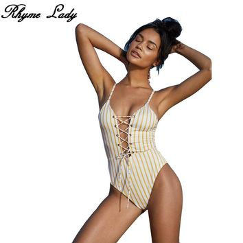 Rhyme Lady newest SEXY swimwear Women  Swimsuit  2018 summer One Piece Monokini lady brazilian Swimwear Body suit bathing suit