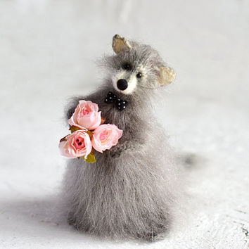 Raccoon Stuffed Animals Raccoon Knitted Handmade Raccoon Toys Raccoon Gift Raccoon Cute Grey Raccoon Amigurumi Woodland Rustic