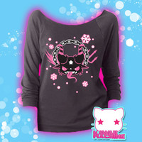 Christmas with Krampus Kawaii Graphic Hoodie Sweatshirt Fairy Kei Pastel Goth