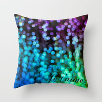 Je t'aime. Throw Pillow by noirblanc777 | Society6