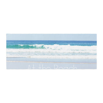 "Sylvia Coomes ""Life Is Better At The Beach"" Tan Blue Bed Runner"
