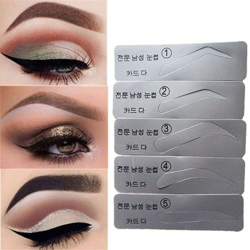 Eyebrow Stencil Eyebrow Shapeing Kits Templates Shaper Set of 5