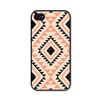 iPhone 5 Case - Coral Tribal Geometric  - Southwest - Peach Black iPhone 5s Case