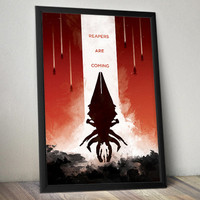 Mass Effect Inspired Video Game Poster- Reapers Are Coming