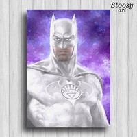 white lantern batman poster justice league wall art the dark knight batman painting