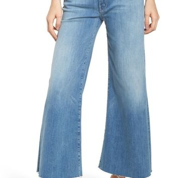 MOTHER The Roller Crop Snippet Wide Leg Jeans (Well Played) | Nordstrom