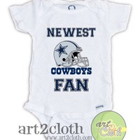 Dallas COWBOYS FAN Baby Onesuit | art2cloth