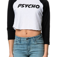The Psycho Baseball Tee in Black and White