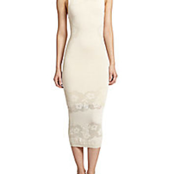 Alice + Olivia - Stila Floral Open Weave-Paneled Body-Con Dress - Saks Fifth Avenue Mobile