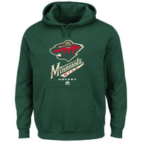 Majestic Minnesota Wild Critical Victory VIII Pullover Hoodie - Green