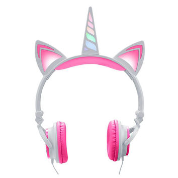 Light-Up Unicorn LED Headphones 7 1/4in x 10 1/4in