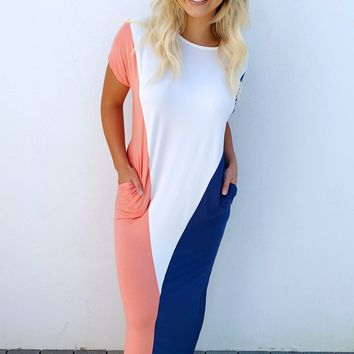 Block Party Maxi: Navy/Multi