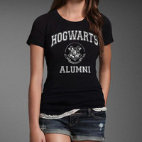 Hogwarts Alumni Harry Potter Geek Fan T-shirt Women's Girl's Ladies  Black Tshirt Tee