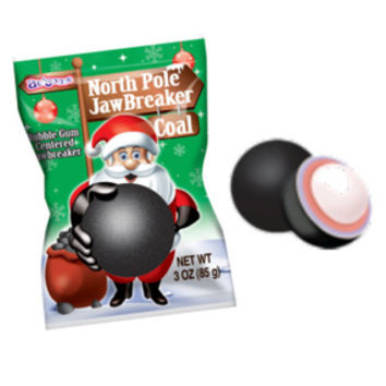 North Pole Jawbreaker Black Coal Candy Ball Packs: 12-Piece Box
