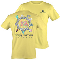 Simply Southern Collection Preppy Charms Of The South Bow Anchor T-Shirt