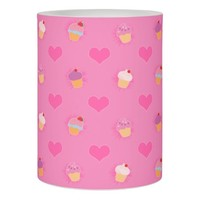 Pink Cupcake Pattern Flameless Candle